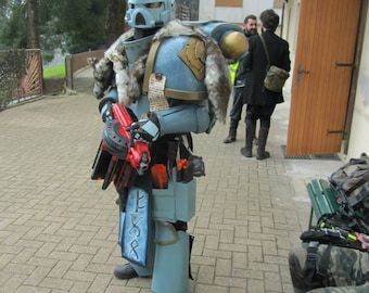 MADE TO ORDER - Warhammer 40.000 Space Marine Space Wolf power armor larp cosplay Astartes Space Wolves replica grimdark chaos horror 40k