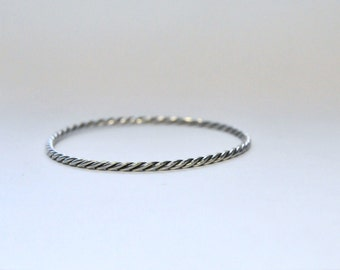Silver bracelet, twisted (2 threads)