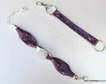 Handmade Designer Leather Bracelets SP Crystal Centre Limited Edition