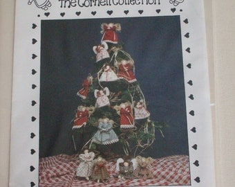 "The Cornell Collection ""Angel"" NB144 , 7"" and 5 1/2"" angel doll patterns,ornaments, vintage"