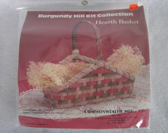 "Hearth basket kit,Burgundy Hill collection,reed, 8""x8 1/2""x3 1/2"""