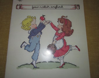 Joan Walsh Anglund, 16 cross stitch designs, children,needlepoint