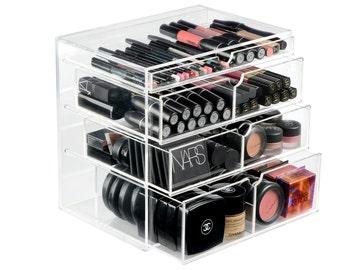 4 Drawer Acrylic Clear Makeup Organizer