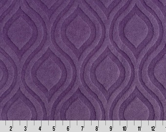 Embossed Marquise Minky Cuddle in Violet from Shannon Fabric