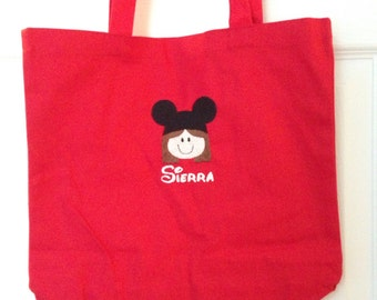 Personalized Bag Kids Face w/ ears