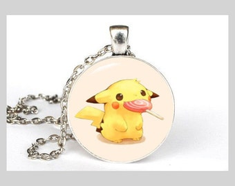 Pikachu Inspired Necklace in Silver