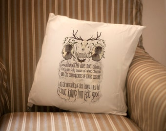 HANNIBAL pillow / Will Graham and Hannibal Lecter silhouettes