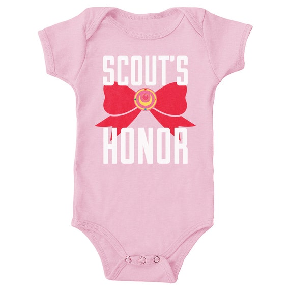 Scout's Honor Light Pink Onesie Sailor Moon by GeekyMini on Etsy