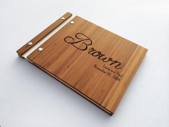 bambou mariage livre d 39 or blanc bois par musebookcollections. Black Bedroom Furniture Sets. Home Design Ideas