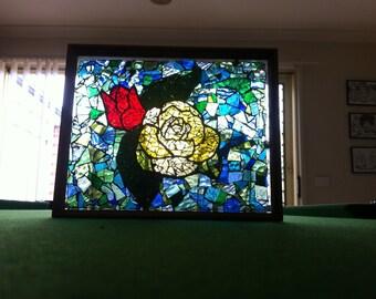 Rose Mosaic Photo Frame