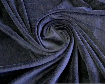 Fabric cotton polyester nicky dark blue soft