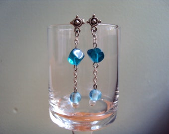 Blue Asymmetrical Dangles