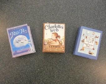 Miniature Book Ornaments: Three Book Set
