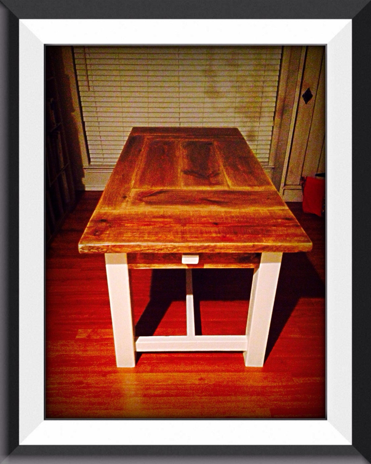 6 foot patchwork dining table with 4 foot by manuscottagedecor