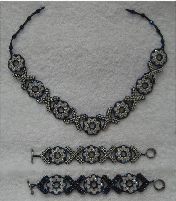 SilverStars Necklace /& Bracelet Womens Jewelry Set Stampato XOXO Two Tones Necklace:17.5 Bracelet:7.5