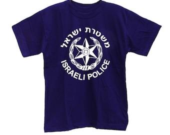 Israeli Police Emblem Hebrew Mishtara Logo T-shirt