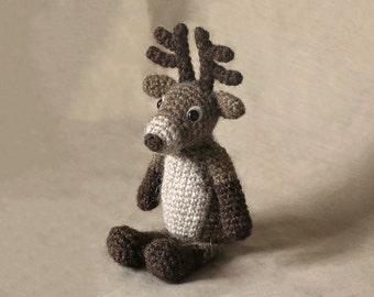Crochet amigurumi reindeer pattern rudolph red nosed