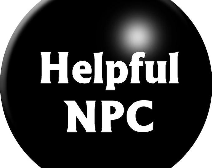 Helpful NPC button