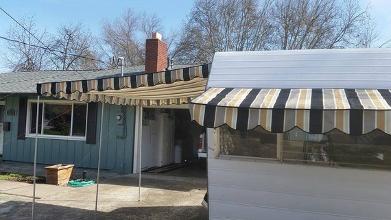 Vintage Trailer Awnings 8 W X 10 L Main Awning