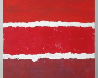 Large Abstract Acrylic Painting Original Art Modern Art Contemporary Art Red Painting Color Field