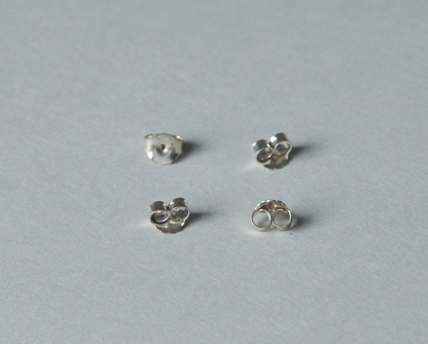 sterling silver butterfly earring backs large earring