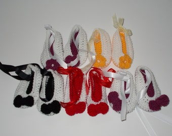Handmade baby girl ballerinas/ shoes/ booties, size 10cm