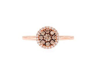 Rose Gold Ring, Chocolate Diamond Ring, Wedding Band, Anniversary Gift, Wedding Ring, Alternative Ring, Engagement Ring, Chocolate Diamonds