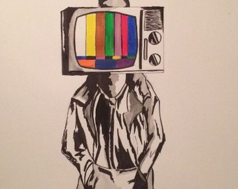 Media Infusion on 18 x 24 watercolor paper