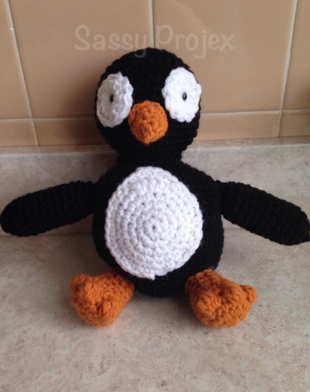 Amigurumi Stuffed Animals : Penguin stuffed animal crocheted amigurumi penguin amigurumi