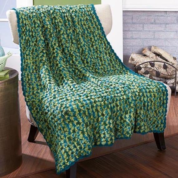 Dragonfly Crochet Afghan Pattern : Items similar to Dragonfly Mist Afghan Crochet Afghan on Etsy