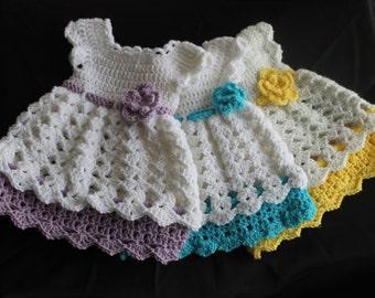 Elegant Little Crochet Baby Dress