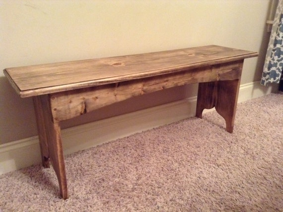 Rustic Wooden Foyer Bench : Rustic bench entryway distressed wood
