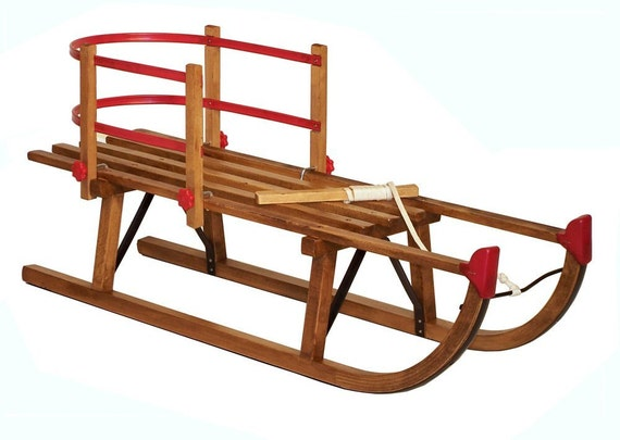 Large Tracker Wooden Pull Sled Package
