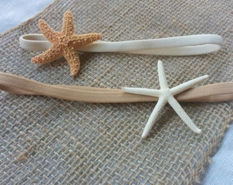 Starfish Headband - Seashell Hair Accessories - Shell Children Headband - Starfish Girl Headband - 2 PC