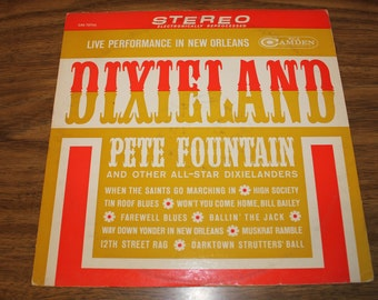 """Vintage: Pete Fountain """"Dixieland"""" Live Performance in New Orleans LP 1962"""