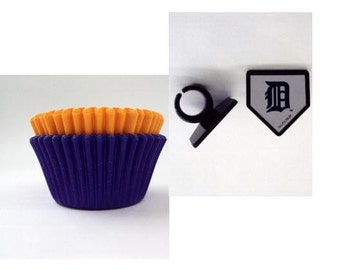 Detroit Tigers Rings with Blue and Orange Baking Cups