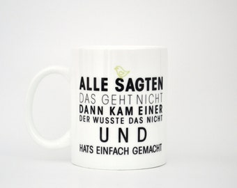Everything said - can't mug/Cup by form type