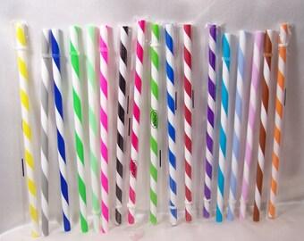 Swirly Straws, Reusable & BPA Free!