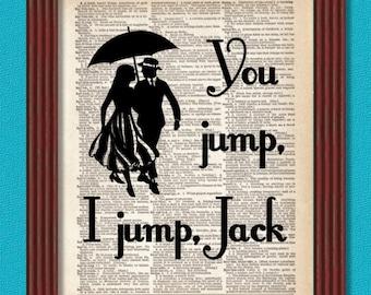 BUY 2 GET 1 FREE You Jump I Jump Jack Dictionary Art Print In Omnia Paratus Quote Life & Death Brigade Decor Rory Lorelai Gilmore Girls