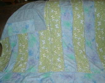 Blanket,Kids flannel Blanket with Butterflies Size 51 x 49