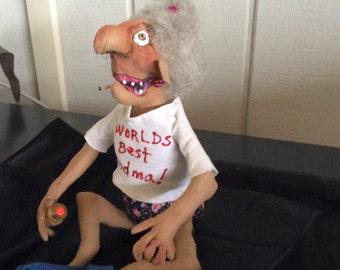 Cloth Doll,Diana's DZines,Dolls,Cloth Doll,handmade,Worlds best Grandma