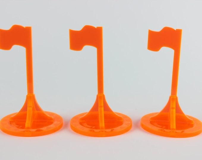Neon Orange - War Machine 3d Objective Flag 3 Pack