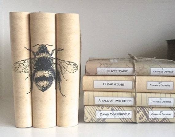 Bee Decorative Books With Custom Book Covers
