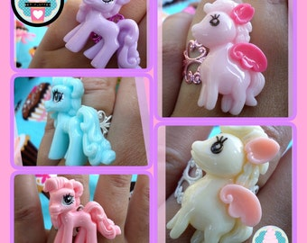 SUPERCUTE KAWAII, Fairy Kei, Pony Fillagree rings
