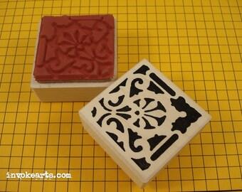 Fret Square Stamp / Invoke Arts Collage Rubber Stamps