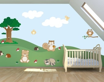 Wall decals kids Wall stickers Baby Nursery Room Decor The Enchanted Forest