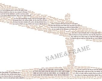 Angel Of The North Print with Blaydon Races Lyrics - Newcastle