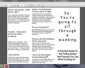 Funny Customisable Wedding Program