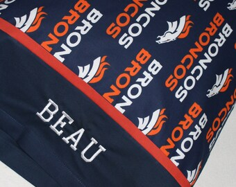 Personalized Broncos Pillowcase Standard Size Cotton