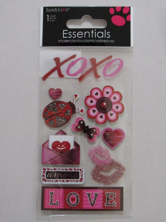 Love Scrapbooking Stickers by MyStickerCollections on Etsy